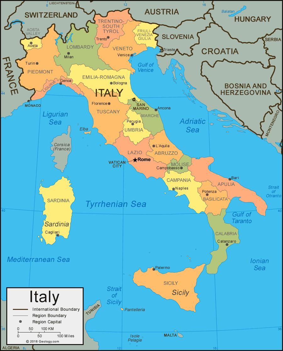Italian Rannikolla Kartta Kartta Italian Rannikko Etela