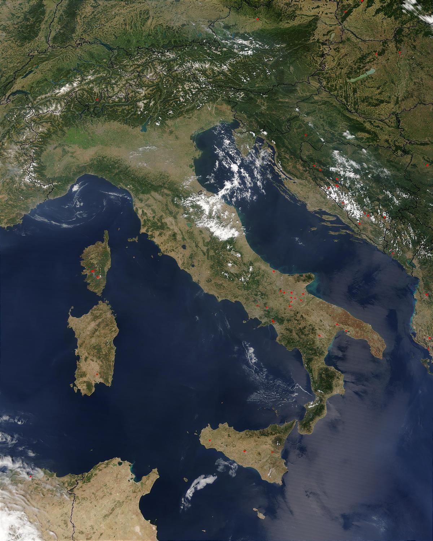 Italia Satelliitti Kartta Kartta Italia Satelliitti Etela