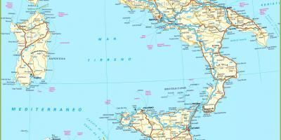 Italian Rautateiden Kartta Yksityiskohtainen Rautatie Kartta